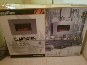 Flame master electric fire place wall mounted