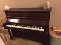 1930s upright mahogany piano