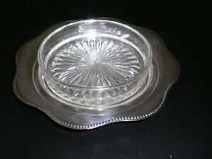 butter dish  silver plated  - vintage