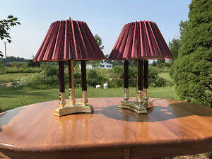 Assorted bedroom and end table lamps