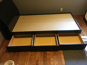 Nexera single bed with 3 drawers and headboard