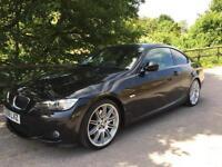 2009 59 BMW 330D M SPORT HIGHLINE COUPE 3.0TD AUTOMATIC 2 OWNER 60K FSH BLACK