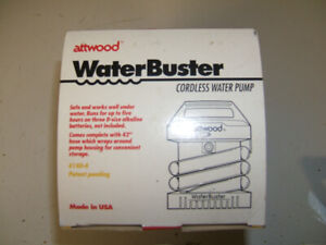 BRAND NEW ATTWOOD WaterBuster CORDLESS WATER PUMP
