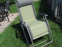 Chaise de jardin zéro gravité - NEUVE
