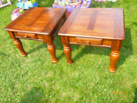 A pair of end tables with a drawer, free delivery