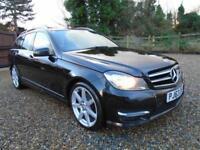 BIG SPEC 2014 Mercedes C CLASS C220 DIESEL ESTATE MANUAL* AMG SPORT ** 1 OWNER *