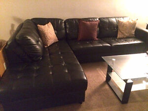 Excellent Condition Leather Sectional