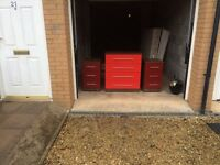 2 bed side tables and chest if draws