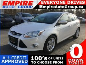 2012 FORD FOCUS SEL* 1 OWNER * LEATHER * POWER MOONROOF * HEATED