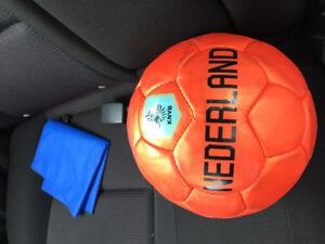Soccer Ball and Shin Pads