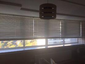 3 x 5ft (146cm drop) white wooden blinds