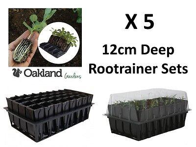 5 X Haxnicks Deep Rootrainer Set Root Trainer Books Cells Plug Plant Seed Tray