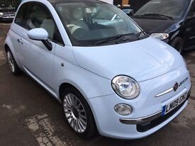 Fiat 500 1.2 Lounge Dualogic 3dr GLASS ROOF AA INSPECTED