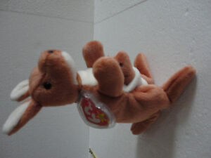 TY POUCH The KANGAROO MOTHER AND JOEY RETIRED BEANIE BABY, TUSH London Ontario image 2
