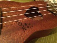 Cute love heart mini ukulele