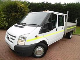 2013/63 Ford Transit T350 2.2TDCi LWB 6 SEAT DOUBLE CAB DROPSIDE WITH TAIL LIFT
