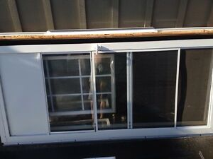 "36"" white aluminum screen/storm door"