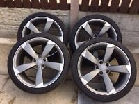 """Genuine 19"""" Audi Rotor Alloy Wheels with Tyres - A3 A4 A5 A6"""