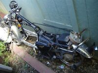 1981  Yamaha 250 Exciter    for parts only as has    clean title