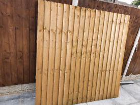 1 x Garden Pressure Treated Featheredge Fence Panel - 6 X 6ft