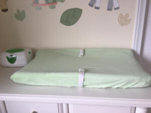 Diaper Change Pad with Plush Cover in Excellent Condition