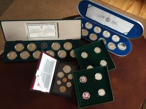 5 Mint Coin Collection Sets  with papers!