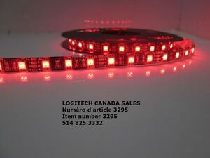 Black PCB RED 5050 Waterproof LED Strip Lighting 5M 300 LED RED