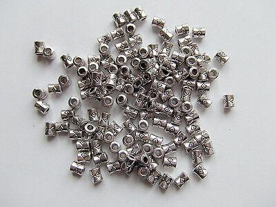 50pz  perline acciaio spacer separatori  tubo 4,1x3,8mm colore tibet