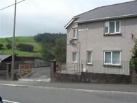 3 bedroom Semi detached house with preliminary planning Gilfach goch with land and drive