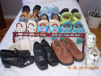 14 pairs womens sz 7 shoes,leather,Hush puppies,Naturalizer
