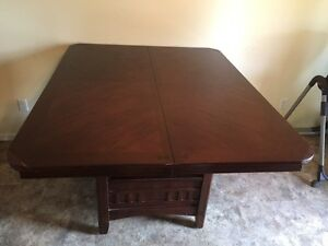 Bar height table with 6 chairs