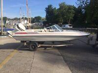 Spirit Speedboat 15.5 ft 115hp Johnson V4 2 stroke power trim tilt, ready to go