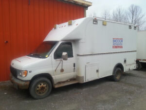2001 Ford F-450 Ex Bomb Squad Cab and Chassis Custom body