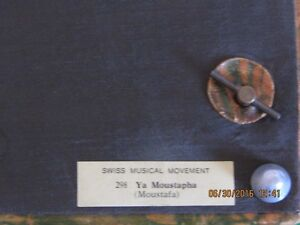 Vintage Swiss-made Egyptian art leather misic box, like new West Island Greater Montréal image 3