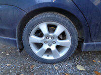 Four Toyota Matrix Aluminum Rims