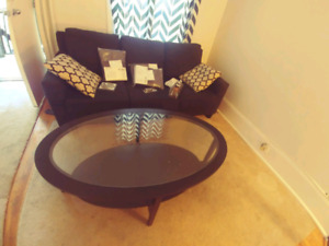 Living room set couch and coffee table mint ikea