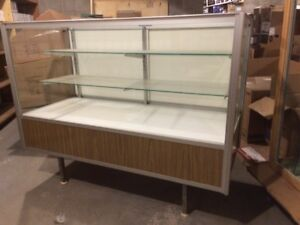 2 glass display cases