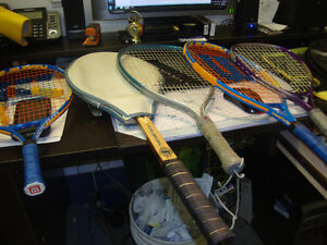 tennis racquets andracketball
