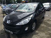 09 REG Peugeot 308 1.6HDi ( 90bhp ) S BLACK
