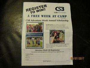 A WEEK AT CHRISTIAN BOYS CAMP! $150  tel 519 362 6181