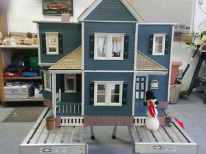HAND CRAFTED DOLL HOUSE WITH FURNITURE