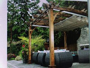 Pergola with Retractable Canopy / 10'x12′