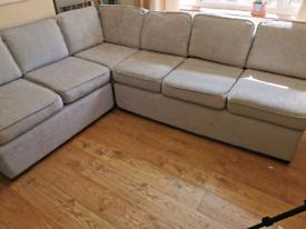 Silver Grey Modular Corner Sofa