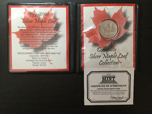 1999-2000 Maple Leaf Silver Coin