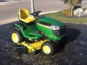 """John Deere D170 Tractor, 54"""" lawn mover and 44"""" snow blower"""