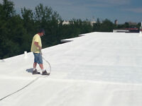 Liquid Applied Spray Foam ROOFING, ENVIRO FRIENDLY GREEN Roofing