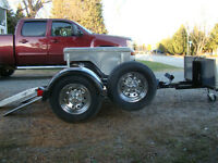 Single rail all alluminum motorcycle trailer