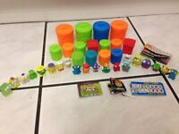 TRASH PACK TRASHIES AND SMALL GARBAGE CANS SET # 2