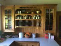 Pine Kitchen Plate Rack Unit