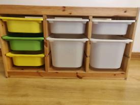 Trofast Storage Unit with Inserts